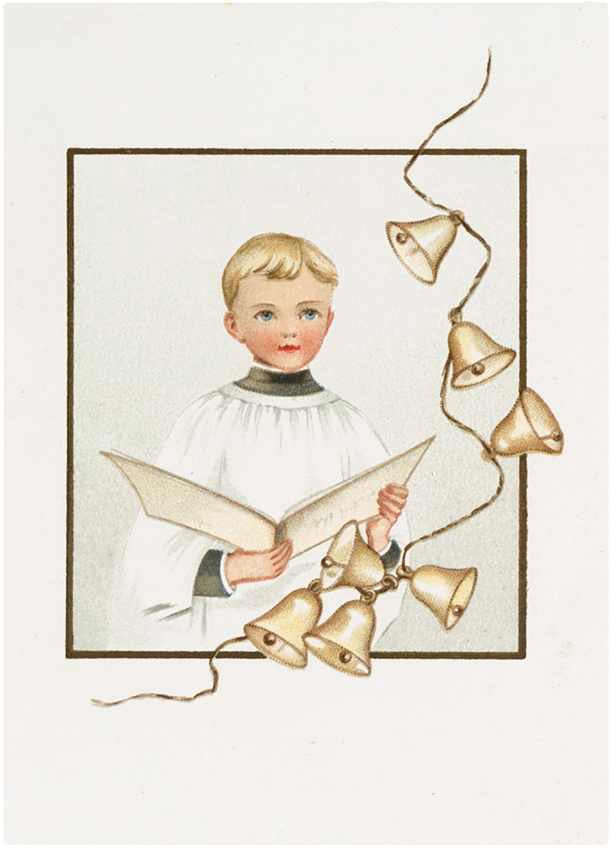 Retro Sweet Choir Boy with Bells Graphic