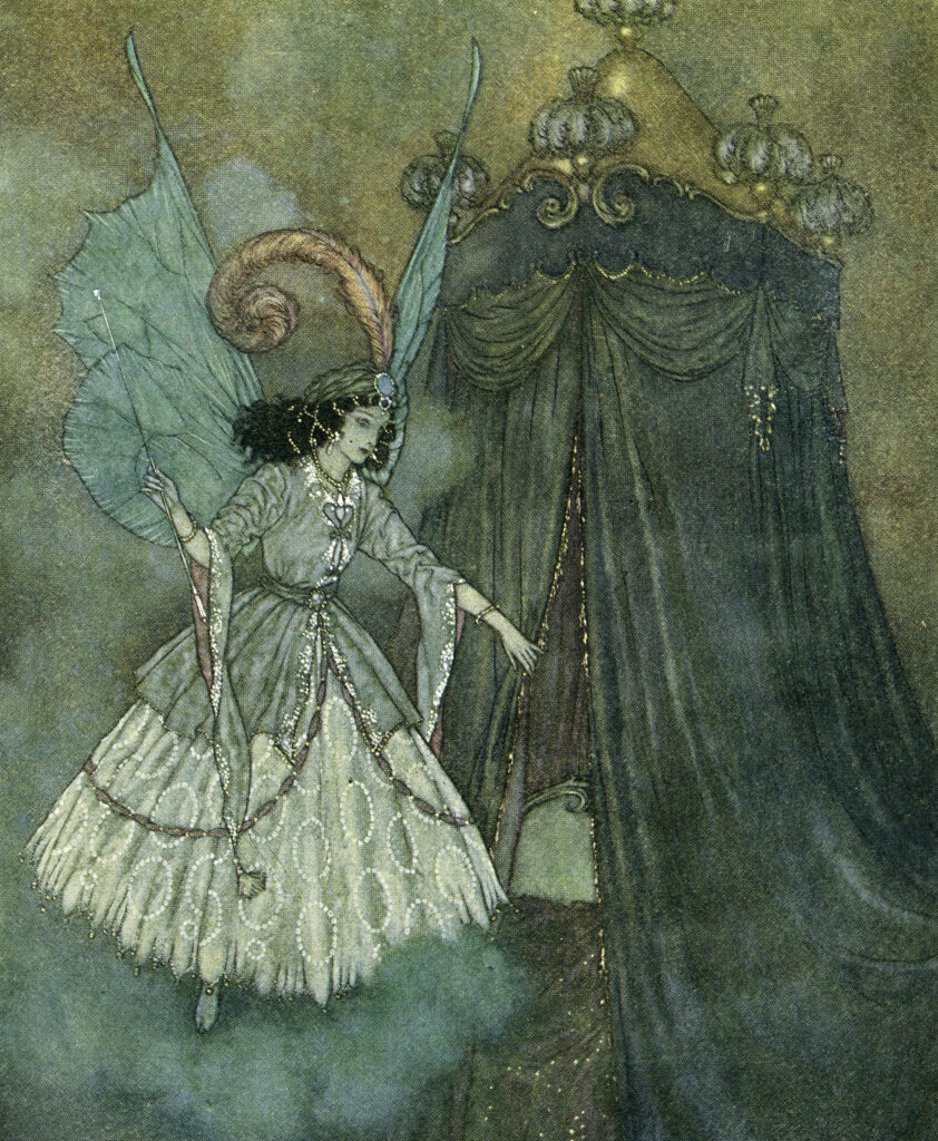 Vintage Blue Fairy Picture