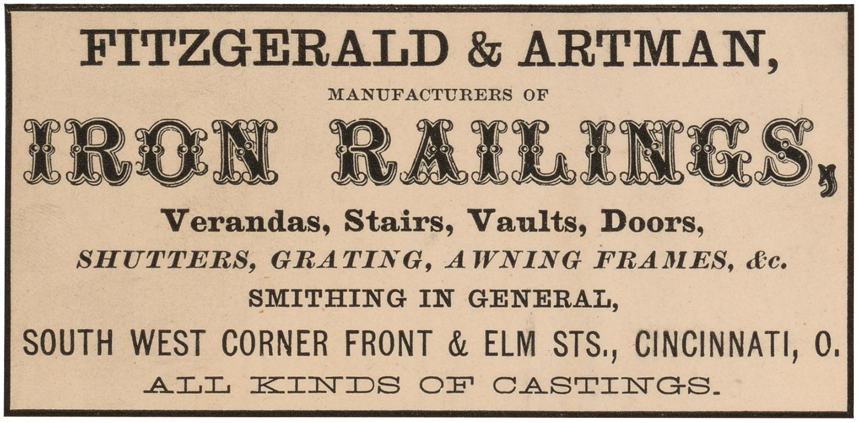 Vintage Iron Railings Ad Label!