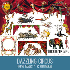 Dazzling Circus Images Kit! Graphics Fairy Premium Membership