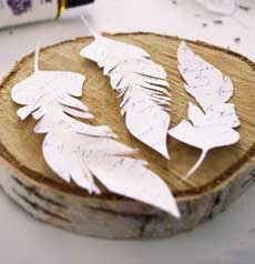 DIY French Script Paper Feathers Project + free printable!