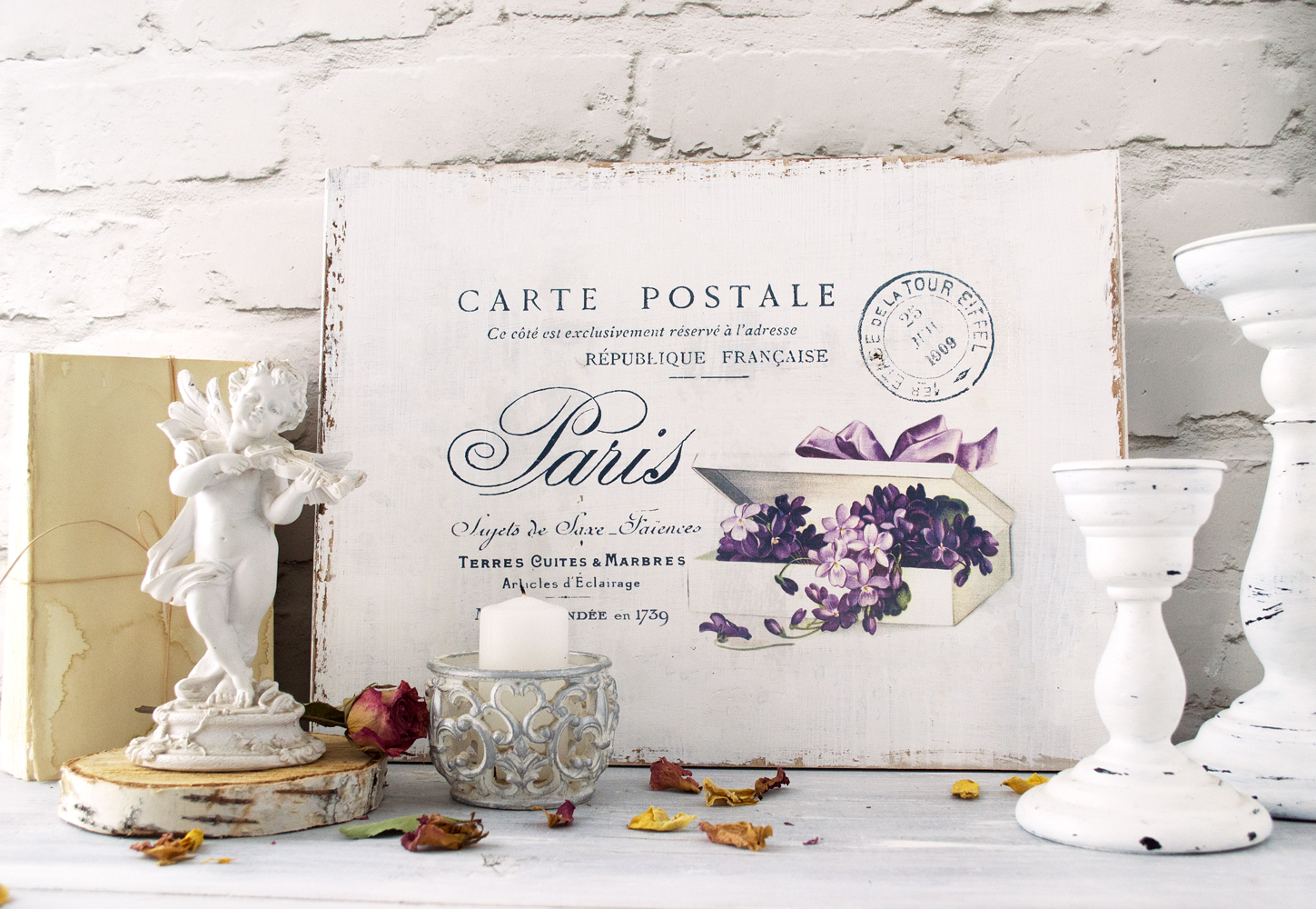 ReTRo PaRis FReNcH VinTaGe IMaGe PosTcaRdS ShaBby WaTerSLiDe DeCALs
