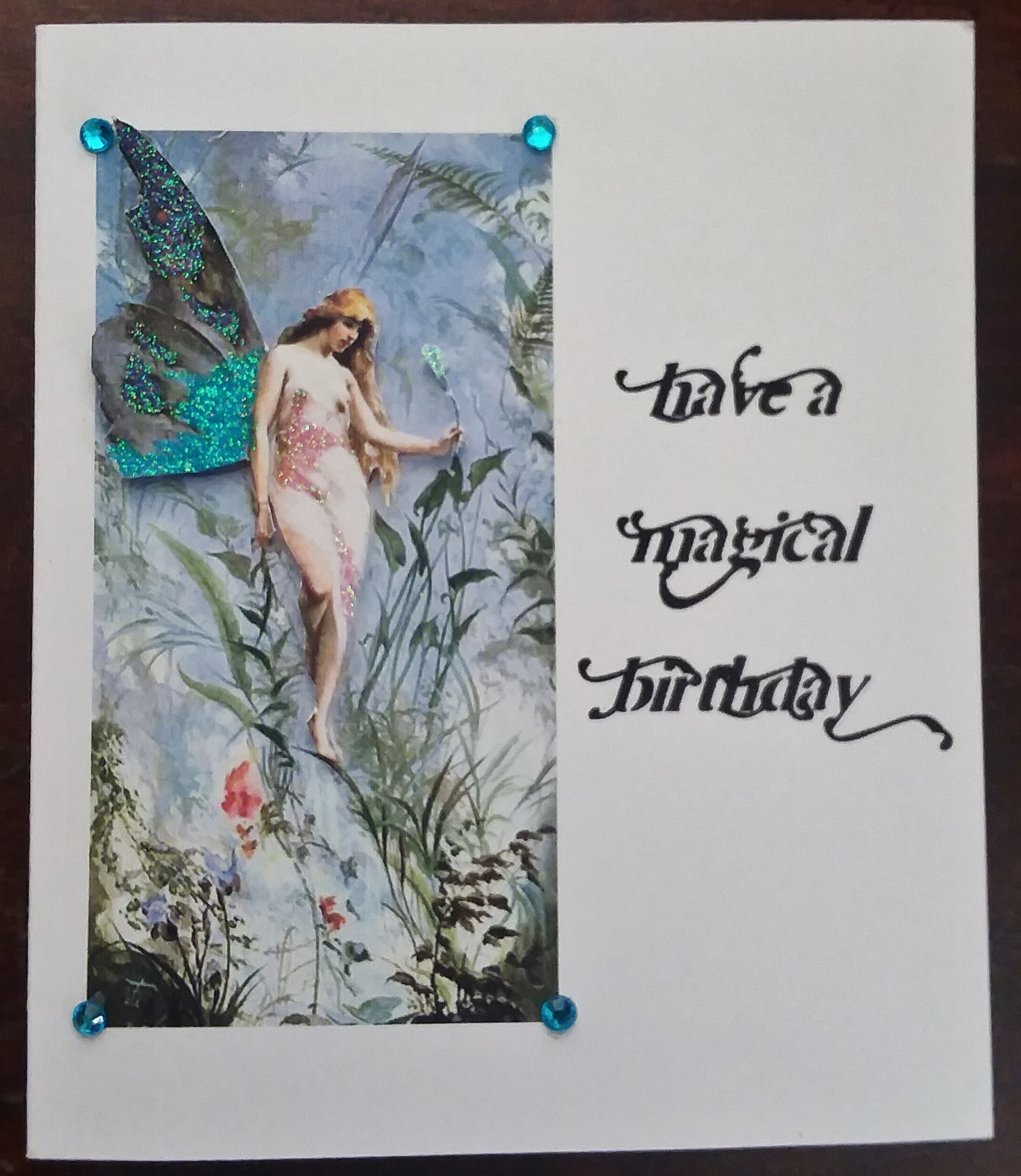 Magical fairy birthday card reader feature the graphics fairy todays reader feature is this gorgeous magical fairy birthday card submitted by our friend mary devine mary used my beautiful fairy image for the front bookmarktalkfo Image collections