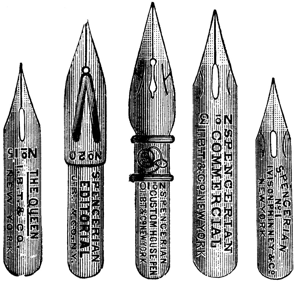 Nostalgic Ink Pen Nibs Advertising Engraving!