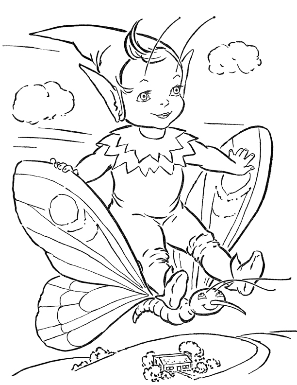 adorable fairy coloring page printable - Fairy Coloring Page
