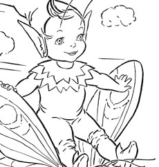 Adorable Fairy Coloring Page Printable!
