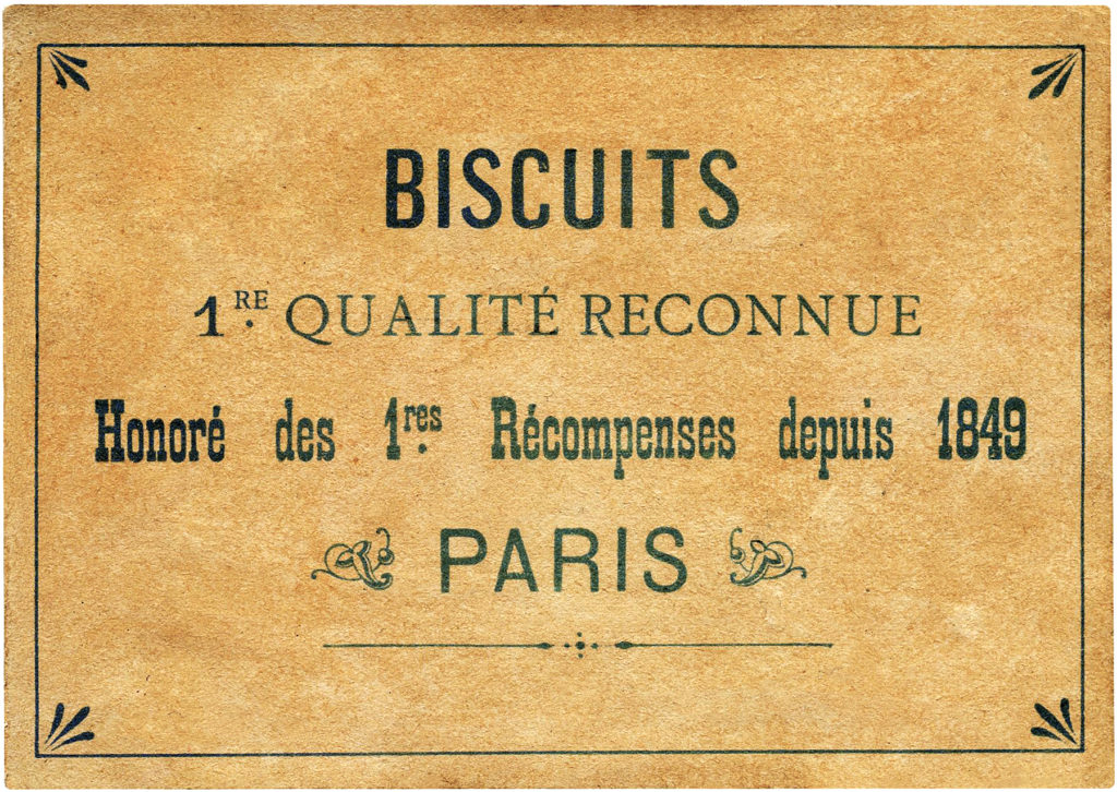 French Biscuit Label