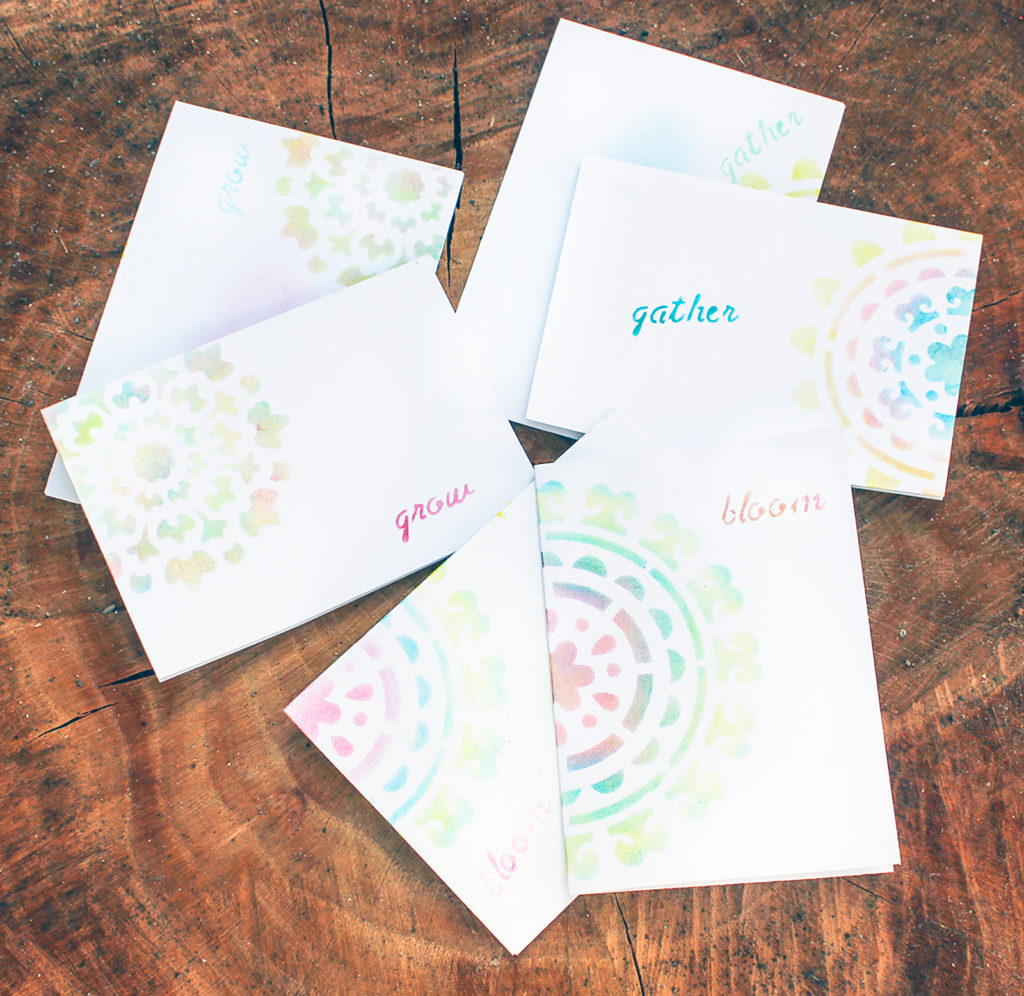 Quick Stenciled Greeting Cards!