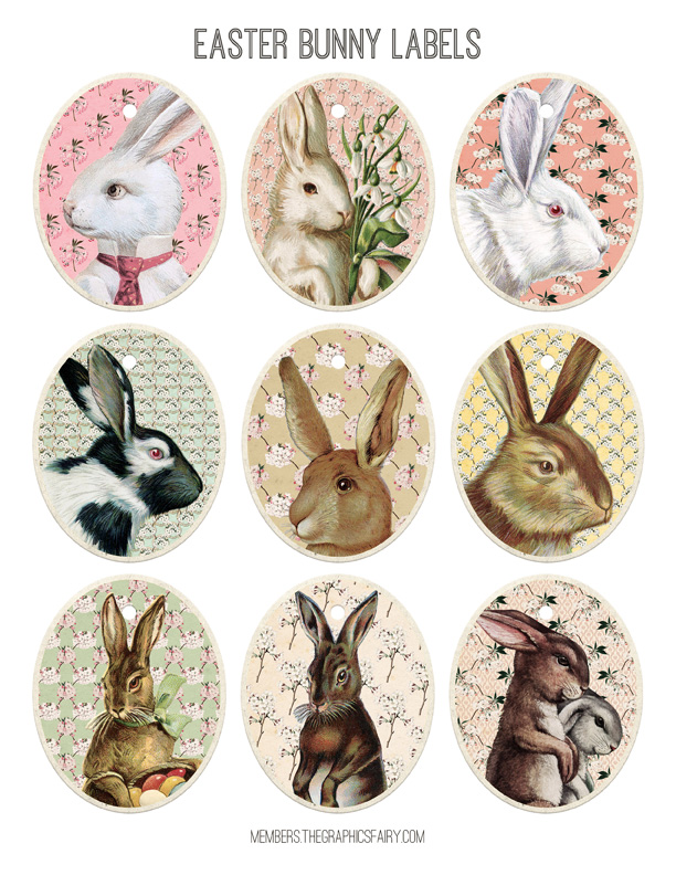 image relating to Free Printable Vintage Images identified as No cost Printable Common Easter Tags! - The Graphics Fairy