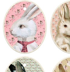 Free Printable Vintage Easter Tags!