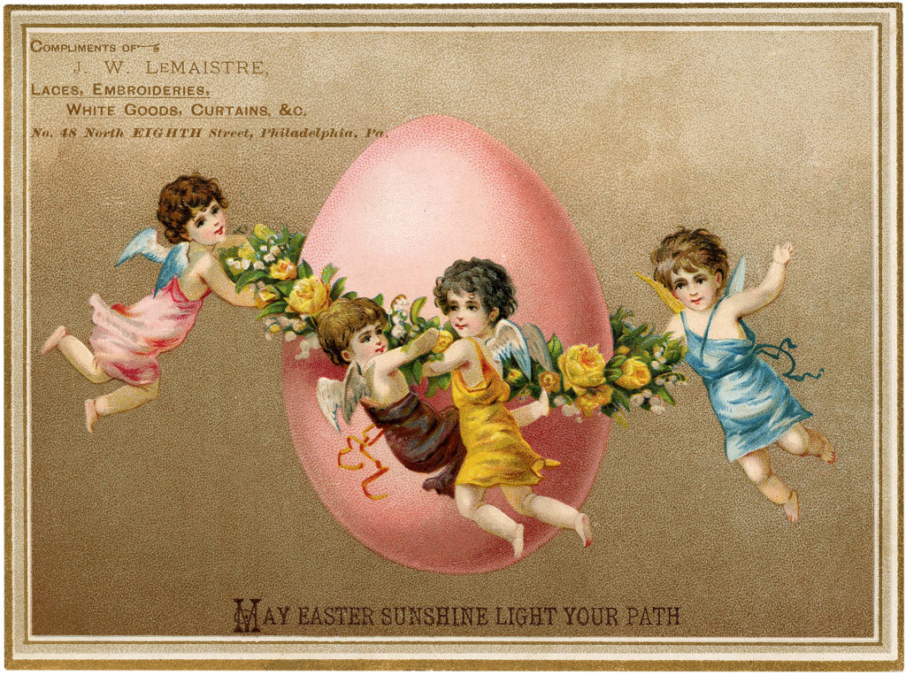 Vintage Easter Egg Fairies