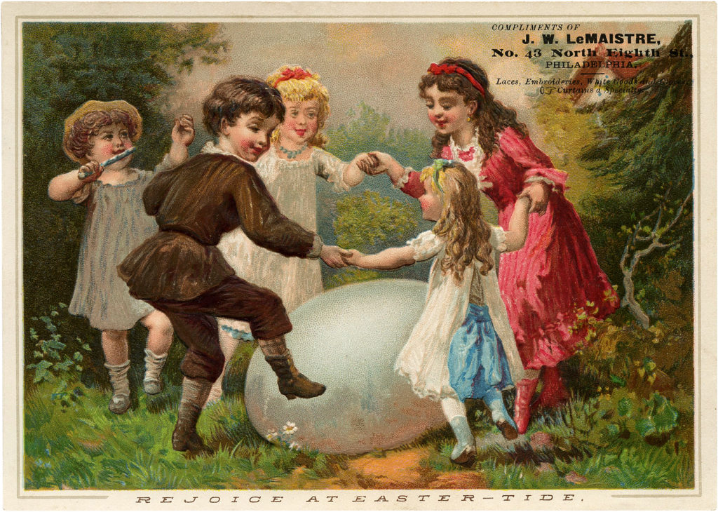 Children Dance Around Easter Egg