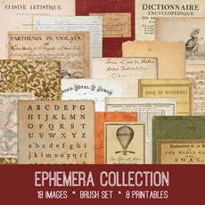 Ephemera Collection Images Kit! Graphics Fairy Premium Membership