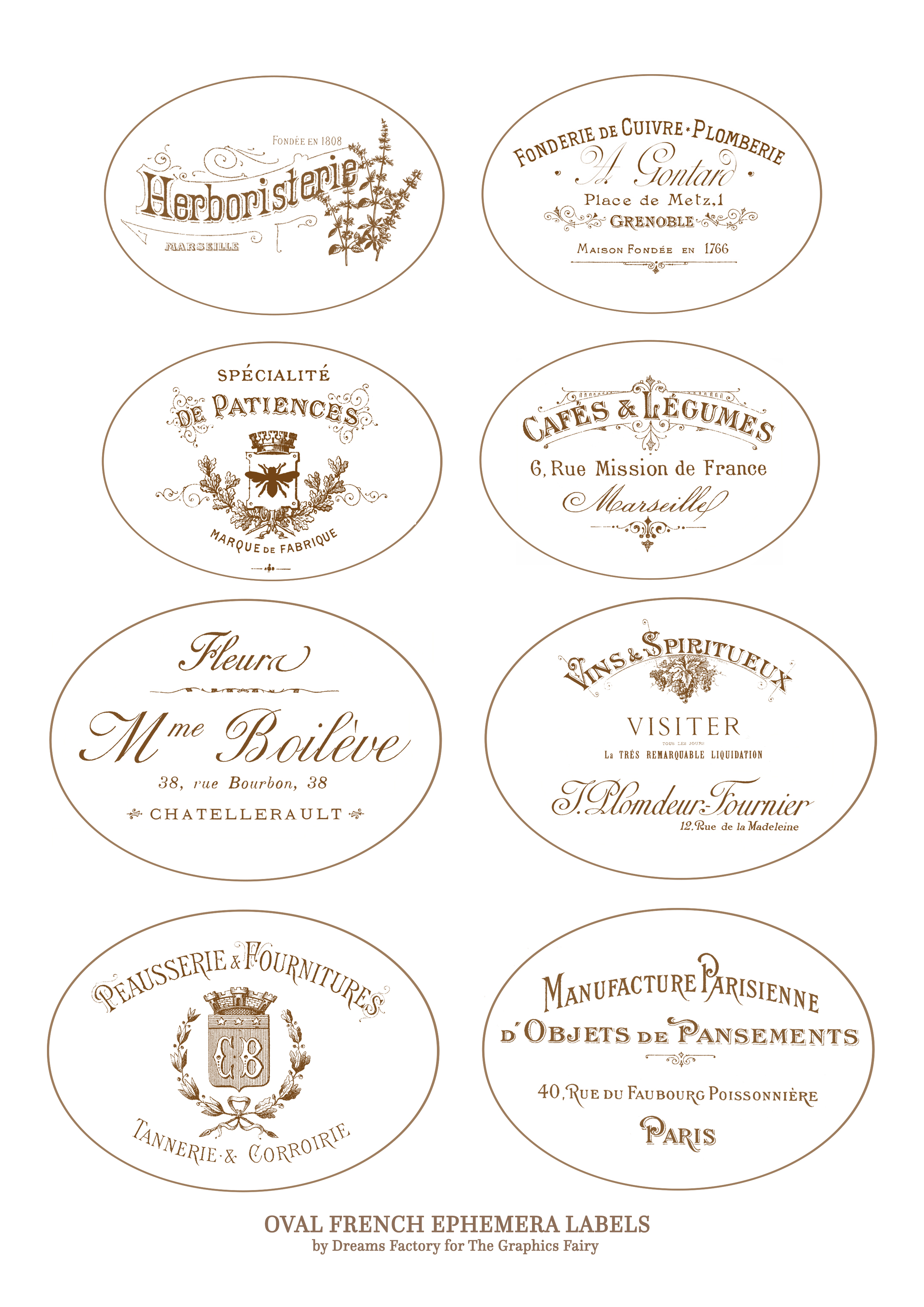 photograph regarding Oval Printable Labels identified as Do it yourself Old French Pots challenge + totally free printable!