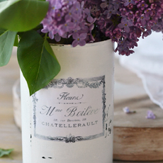 DIY Vintage French Recycled Tin Cans!