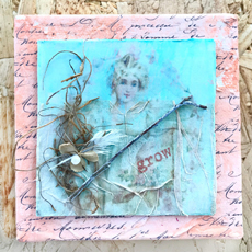 French Spring Mixed Media Tiles Tutorial!