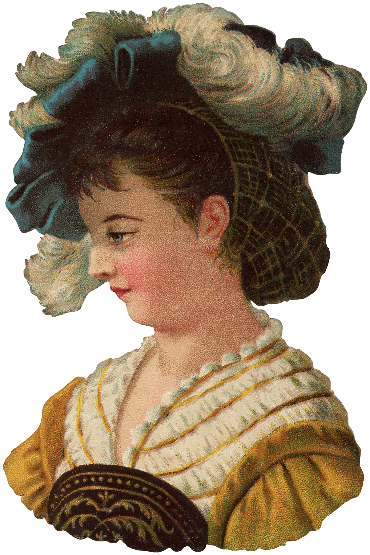 Medieval Lady Images Scrap Victorian