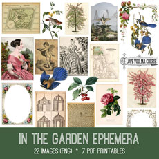In The Garden Ephemera Images Kit! Graphics Fairy Premium Membership