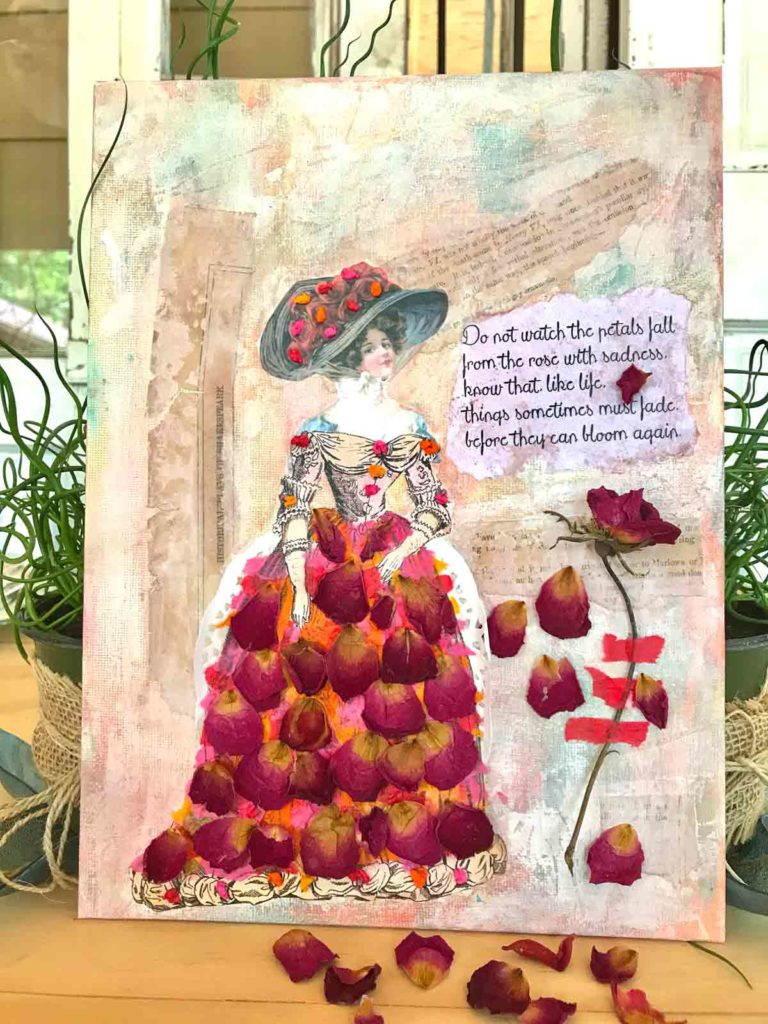 A Rose is a Rose Mixed Media Collage Tutorial!
