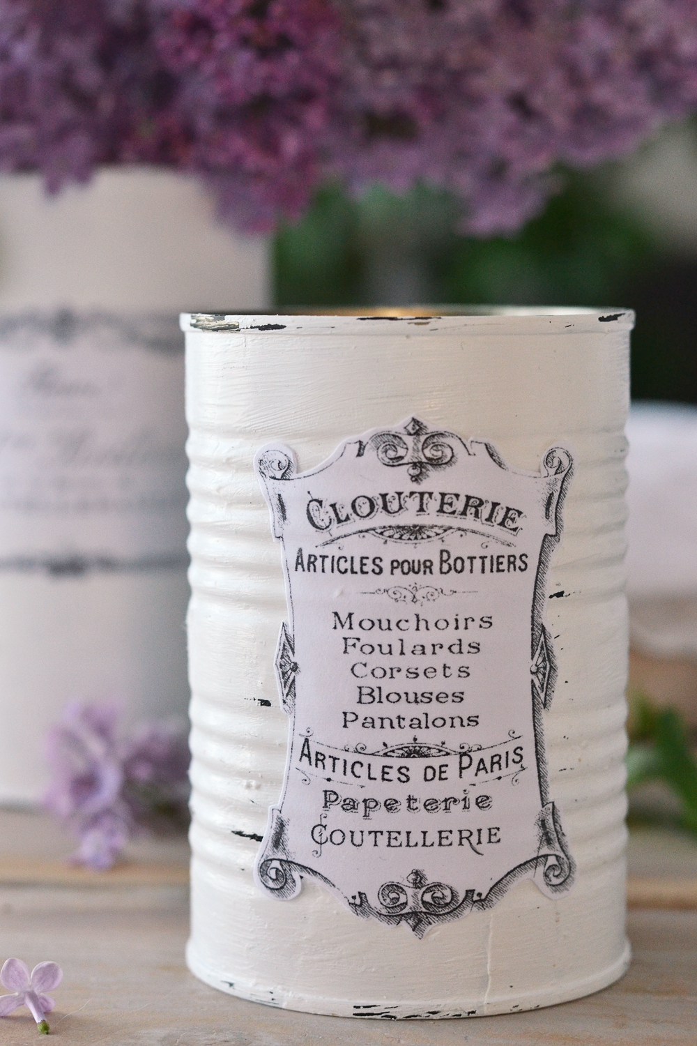 Diy Vintage French Recycled Tin Cans Project Amp Free Printable