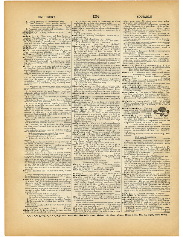 Printable Vintage Dictionary Pages