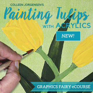 Our newest eCourse – Acrylic Floral Painting – is Open!