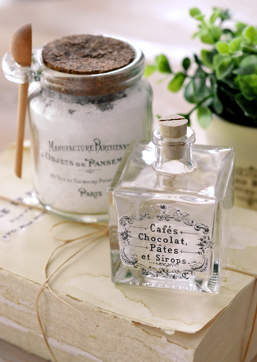 DIY Clear French Labels Project + free printable