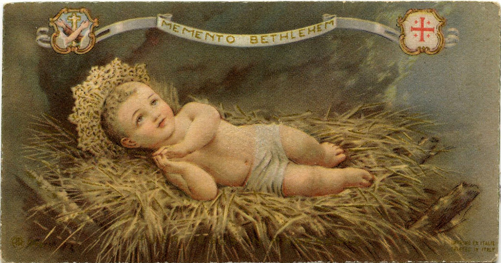 Baby Jesus in Manger Christmas Image