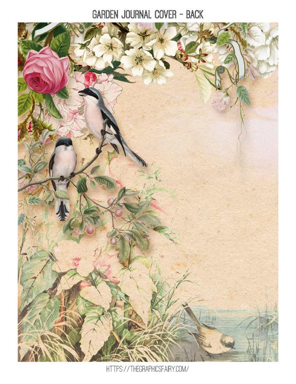 Free Printable Journal Cover Garden Theme