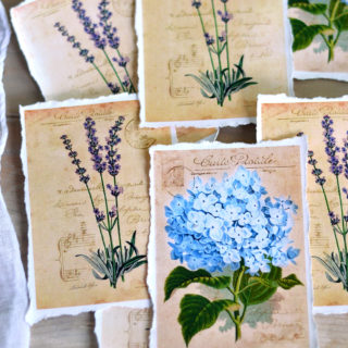 How to Make a Perfect Torn Paper Edge + Floral Printables