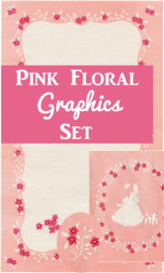 Free Pink Floral Graphics Set