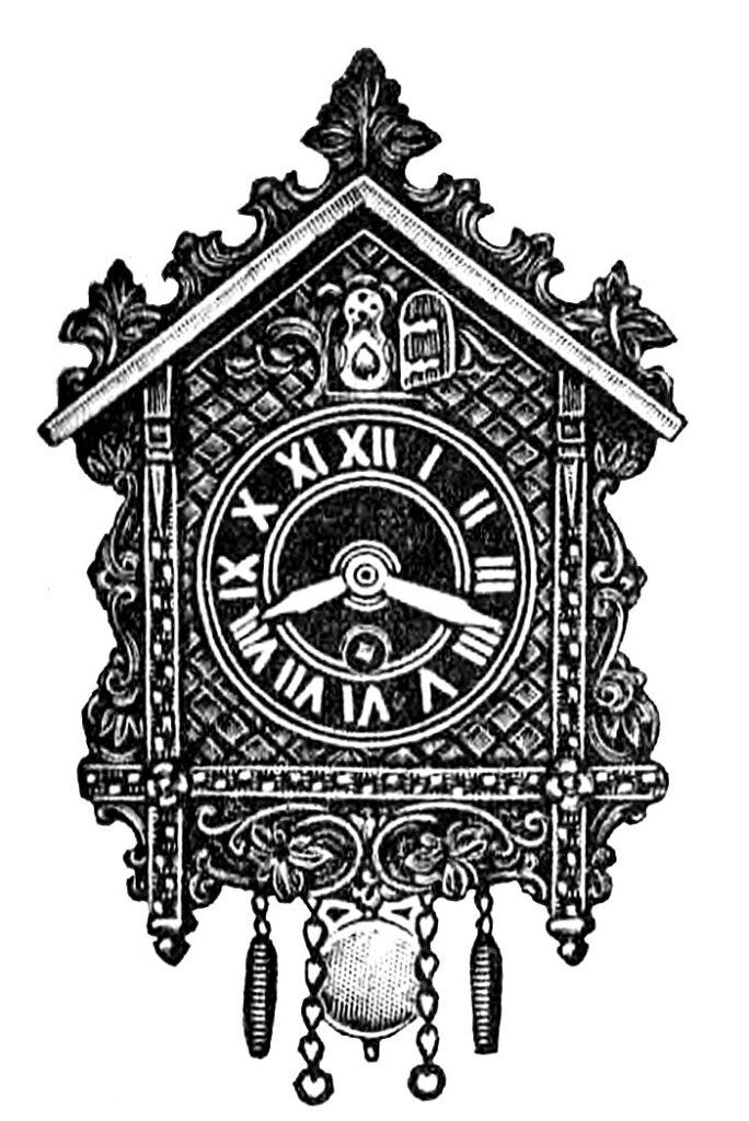 Small Cuckoo Clock Clipart