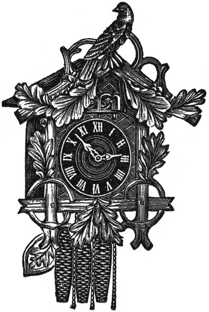 Vintage Bird Cuckoo Clock Image