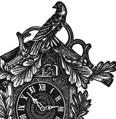 Image result for old cuckoo clock painting