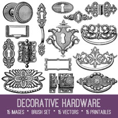 Decorative Hardware Images Kit! Graphics Fairy Premium Membership
