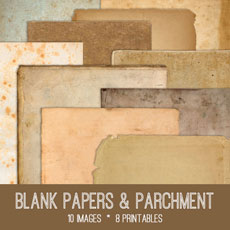 Blank Papers and Parchment Kit! Graphics Fairy Premium Membership