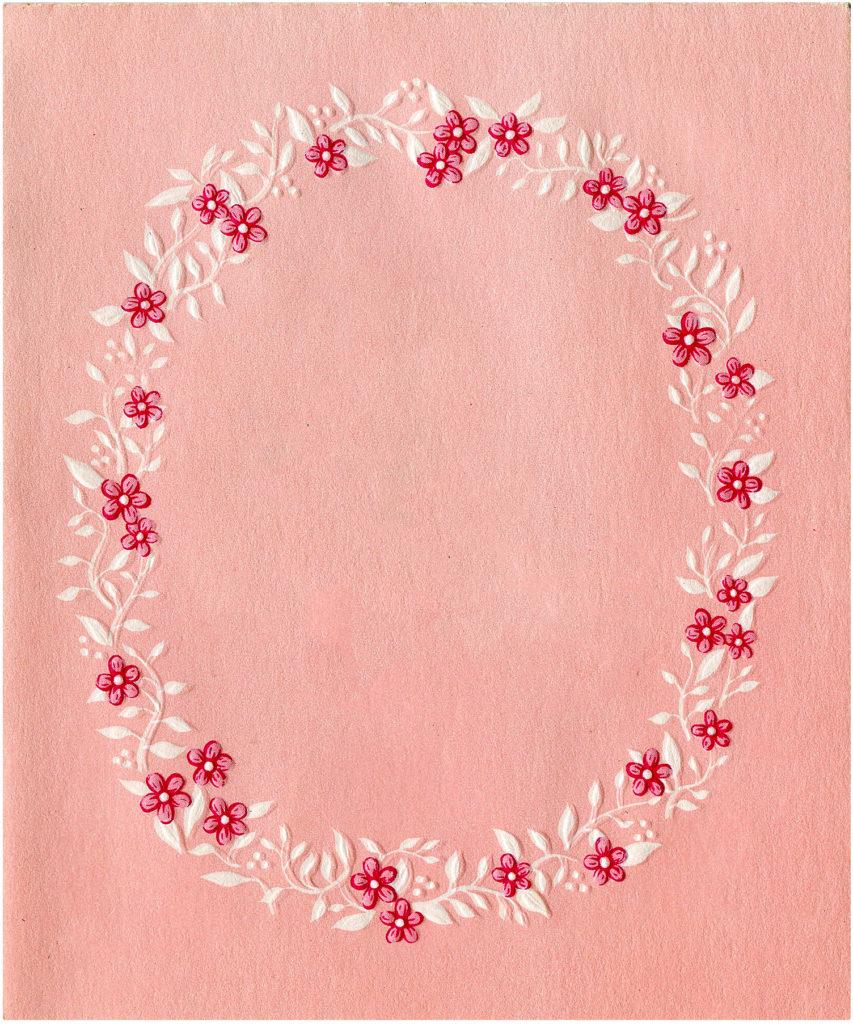 Pink Floral Images Set