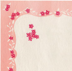 Super Pretty Free Pink Floral Graphics Set – 1940s-1950s!