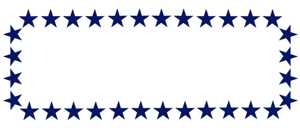 Blue Star Clipart Frame