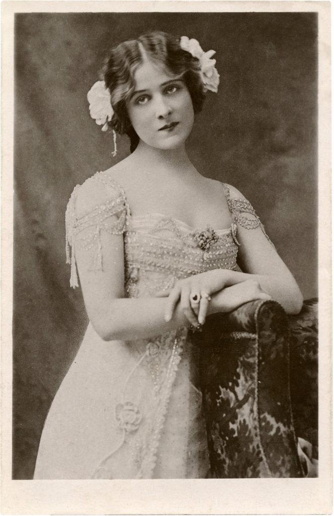 Actress Photo in Elegant Beaded Gown!