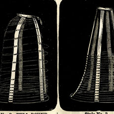 Four Vintage Wire Hoop Cage Skirt Diagram Graphic!