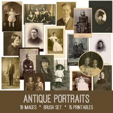 Antique Portrait Photos Image Kit! Graphics Fairy Premium Membership