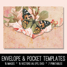 Envelope & Pocket Templates Image Kit! Graphics Fairy Premium Membership