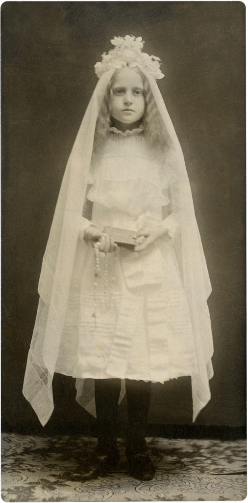Communion Girl Vintage Photo
