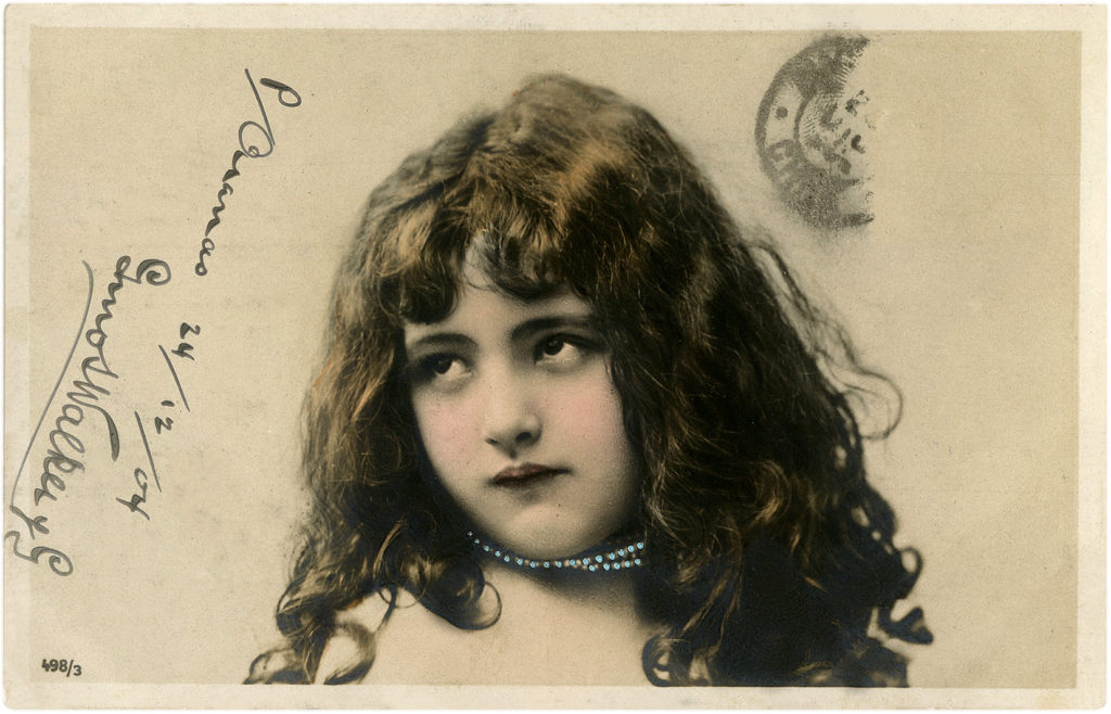 Vintage Adorable Child Postcard Photo