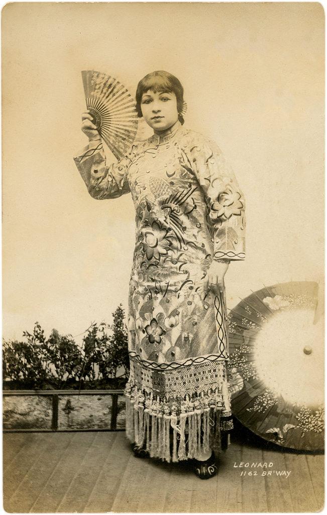 Retro Elegant Costumed Lady with Fan Photo!