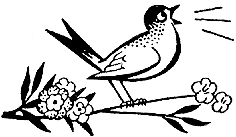 Cute Retro Bird and Worm Clip Art Images!