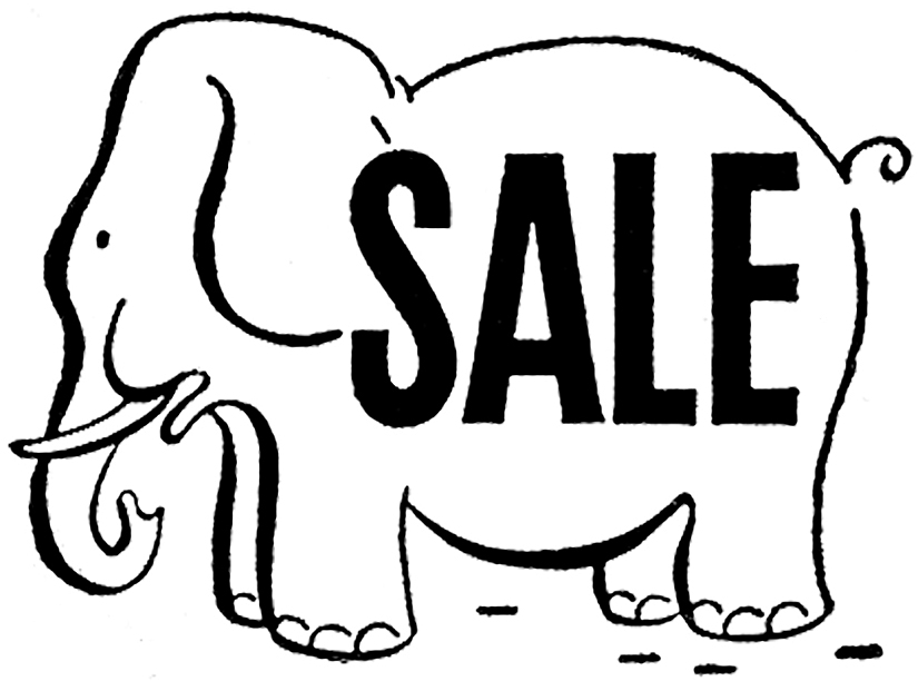 Cute Retro Elephant Advertising Graphics!