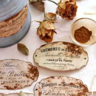 DIY Faux Rusted French Labels + free printable!