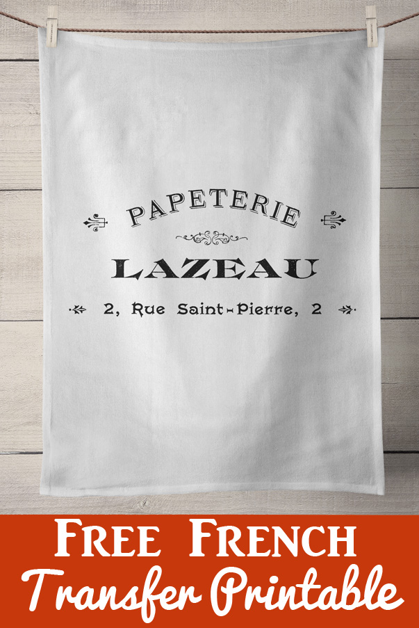 French Papeterie Transfer Printable